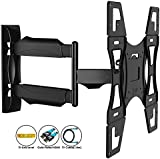 Invision Ultra Slim Tilt Swivel TV Wall Mount Bracket - For Most 26 - 60 Inch LED LCD Plasma & Curved TV Screens - Max VESA 400mm x 400mm - Now Includes 1.8m HDMI Cable (A2)