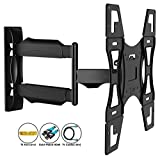 Invision Ultra Slim Tilt Swivel TV Wall Mount Bracket - For Most 26 - 60 Inch LED LCD Plasma & Curved TV Screens - Max VESA 400mm x 400mm - Now Includes 1.8m HDMI Cable (A2) Bild