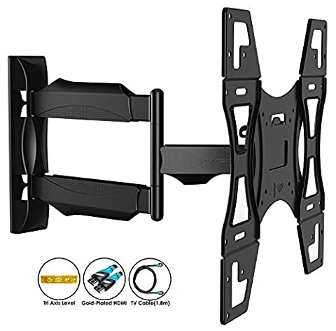 Invision Ultra Slim Tilt Swivel TV Wall Mount Bracket - For Most 26 - 60 (Braccio Di Montaggio)