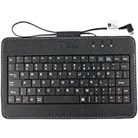 """Black 7"""" QWERTY Keyboard With Micro USB Connector for the Huawei MediaPad M3 Lite 10 