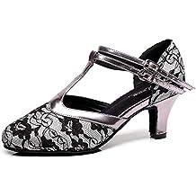 L@YC Zapatos De Baile para Mujer Moderno Tango Vals Salsa Vals Samba Dorado/