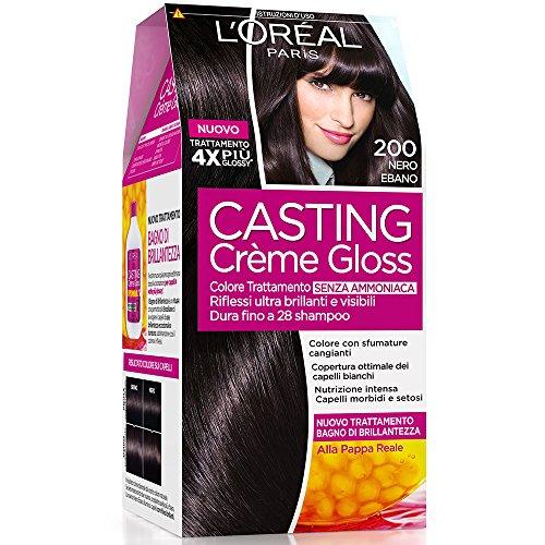 L'Oréal Paris Casting Crème Gloss Colore Trattamento senza Ammoniaca, 200 Nero Ebano
