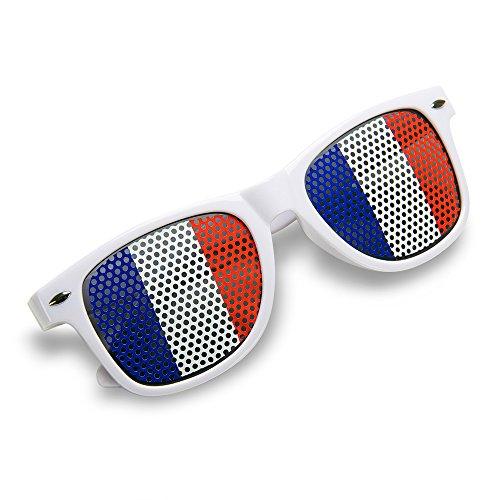 Französisch Themen Kostüm (TRIXES geflochtenes Armband in den französischen Nationalfarben der Trikolore Unisex rot weiß blau Bastille Day Revolution Party)