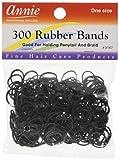 Lot de 300 petits élastiques noirs pour cheveux
