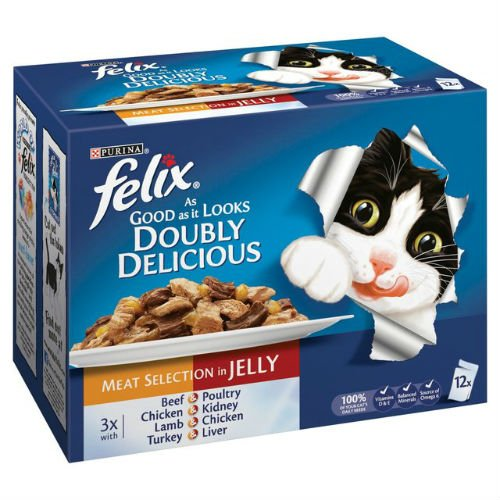 Felix As Good as it Looks Doubly Delicious Meat in Jelly - Pouch 12x100g
