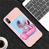 DGPKL Etui pour téléphone Portable Silicone pour iPhone 7 Coque Bébé Maman Fille Femme pour iPhone X 6 6S 7 8 Plus XR XS Max 5 5s Téléphone Coque Coque Arrière Souple, 5 pour 6Plus ou 6s Plus