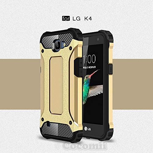 LG K4/Optimus Zone 3/Spree/Rebel, Gold (Dragon Ball Z Phone Case Lg G3)