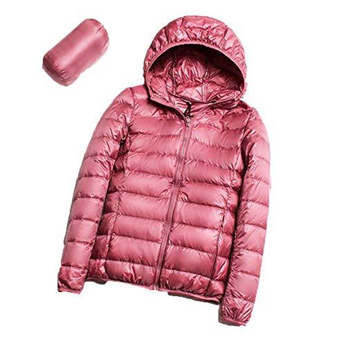 S.CHARMA Women's Packable Ultra Light Weight Short Down Jacket Hooded - Travel Bag