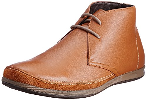 Franco Leone Mens Tan Leather Boots - 8 UK/India (42 EU)