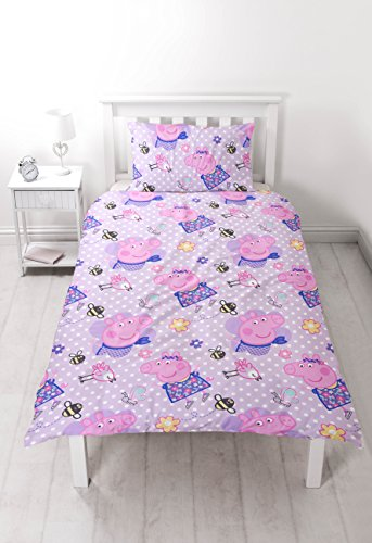 Peppa Pig Happy' Single Duvet Set – Repeat Pattern Design