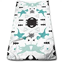 ewtretr Toallas De Mano,Adorable Dinosaur Boys Cool Towel Beach Towel Instant Gym Quick Dry