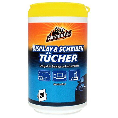 ARMOR ALL Display & Scheiben-Tücher 20 Stk. GAA88020GE alkoholfrei + ammoniakfrei, 88020L