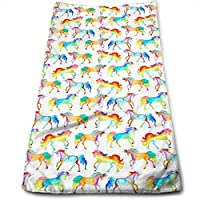 ewtretr Toallas De Mano, Rainbow Watercolour Unicorns Cool Towel Beach Towel Instant Cool Ice Towel