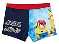 Minions Boys Swim Short - Navy Blue - 6 Years