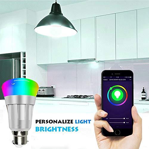 Aubess intelligentes WiFi LED E14 Dimmbar 7W RGB Lampe Birne Kompatibel mit Alexa und Google, No Hub Require für iOS und Android