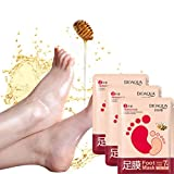 Ouneed Körperpflege , 3 Paare exfoliating peel off foot mask baby soft feet remove callus hard dead skin