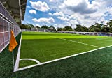 wandmotiv24 Carta da parati Calcio d'angolo della bandiera del campo di calcio XL 350 x 245 cm - 7 pezzi Murales, sfondi motivazionali, non tessuti Stadio di calcio M4881