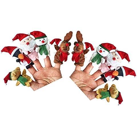 outgeek dedo marionetas Cute Cartoon Animal Navidad educativo historia marionetas de mano para