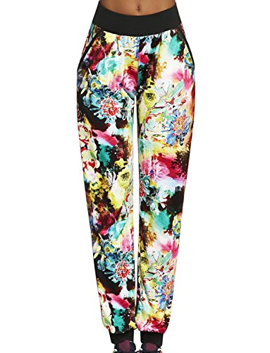 bas-bleu-glade-womens-sports-trousers-full-length-patterned-multicolour-regular-waist-with-pockets-m