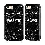 Head Case Designs Offizielle NFL Marmor 2017/18 New England Patriots Schwarze Fender Huelle kompatibel mit iPhone 7 / iPhone 8
