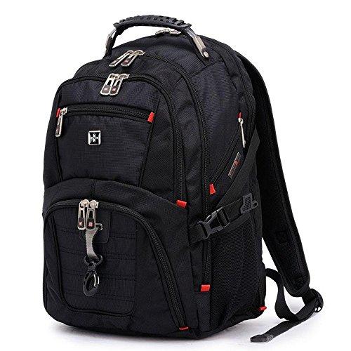 Anbore Travel Gear Scansmart TSA Laptop-Rucksack, passend für die meisten 43,2 cm (17 Zoll) Laptops und Tablets, Schwarz -