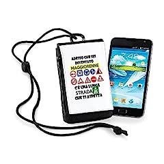 Idea Regalo - Porta smartphone Adesso che sei diventato maggiorenne c'è una lunga strada che ti aspetta - 18 anni - idea regalo - in poliestere dimensioni 10x16x2 cm