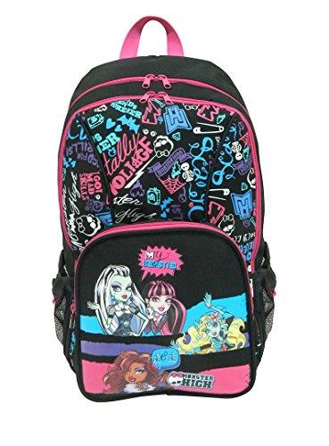 Monster High Sac à Dos Enfants, Noir/Rose MH230