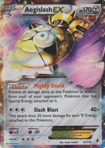 Pokemon-aegislash EX-XY Phantom Kräfte Karte # 65/119(selten holo-foil)