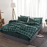 Stilvolle Student Einzelbett Doppelbett gestreiften Plaid gewaschener Baumwolle vierteilige Streifen lila 1,5 Bett Bettclip