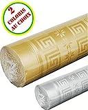 Le géant de la fête - Nappe papier damassé 1.18 x 6 m doré ou argenté Le Geant De La Fete