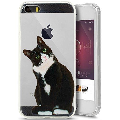 Ukayfe Custodia per iPhone 5/5S/SE,Ultra Slim TPU Gel Gomma Silicone