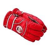Eastlion 4-10 Jahre Alte Kinder Handschuhe Draussen Ski Warme Handschuhe Winddicht Verdickung Fünf Finger Handschuhe,Farbe 4,M