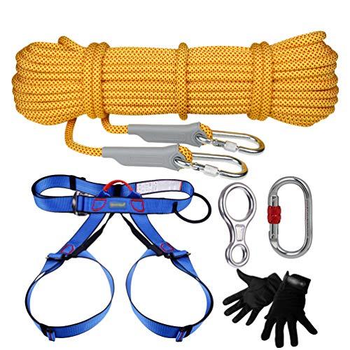 YiLianDaD Kletterset Kletterseil Outdoor Survival Kit Mehrzweck Notfall Ausrüstung Erste Hilfe Kits Set Für Sicherheit Seil Outdoor
