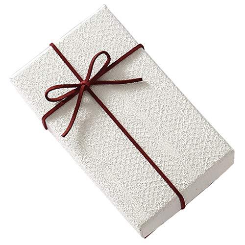 Kleine rechteckige Geschenkbox Lippenstift Parfüm Halskette Uhr Exquisite Box rot blau optional (Farbe : Red)