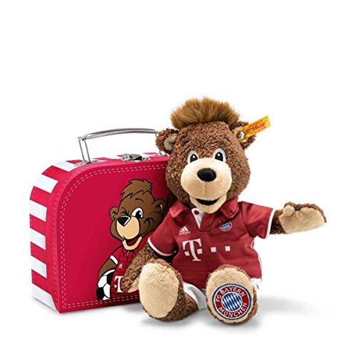Steiff 024504 Teddyb.Berni 26 i.Koffer FC Bayern, Braun