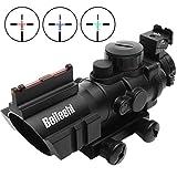 Beileshi Optics 4x32 Red/Green/Blue Triple Illuminated Rapid Range Reticle Rifle Scope with Top