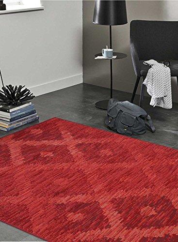 Unamourdetapis - Alfombra BC OULOUTA de estilo moderno, polipropileno, rojo, 120 x 170 cm