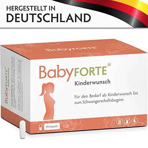 Mcg 90 Kapseln (BabyFORTE Kinderwunsch • 90 Kapseln • 800 mcg Folsäure, Eisen & weitere Vitamine • Kinderwunschvitamine für die Vorbereitung des Körpers auf die Schwangerschaft • Vegan)