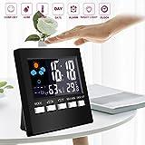 Best Accueil des stations météo - Écran Couleur Réveil Station météo Thermomètre Horloge électronique Review