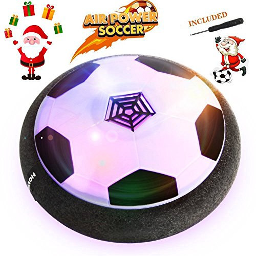 Air Hover Football Ball Toy - Baztoy Juguete Balón de Fútbol Flotante, Pelota con Suspensión de Aire y Luces LED para Jugar Fútbol en Casa sin Riesgo a Romper Nada