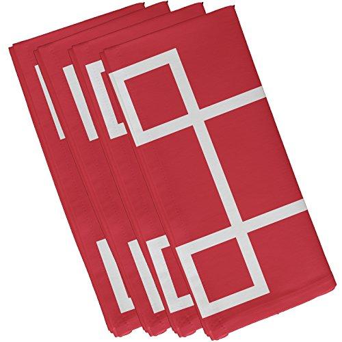 E von Design n4gn55coral geometrischen dekorativen Serviette, 48,3x 48,3cm Coral (Coral Polyester Servietten)