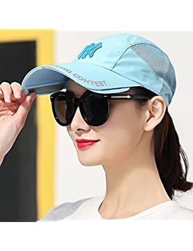 MSZYZ*Sombrero de verano femenina sombrero protección solar exterior telescópico de caperucita tapa sol, patrón...