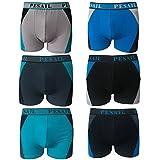 2-4-5-6-9-12er Herren Boxershorts Pesail Retro Shorts Pants Unterhose Sport Underwear in Coolem Design Größe M L XL XXL XXXL