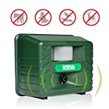 Repulsif Ultrason pour Animaux Nuisibles du Jardin 1500m2 Animaux Sauvages Anti Nuisible Rongeurs Taupes Chats Chiens Oiseaux Renard