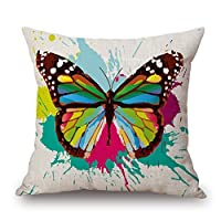 beautifulseason Throw Cushion Covers Of Butterfly 18 X 18 Inches / 45 By 45 Cm Best Fit For Dance Room Couch Kids Girls Dance Room Couples Twin Sides