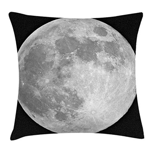 Ntpclsuits Moon Pillow case Black and White Full -