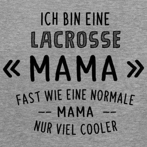 Ich bin eine Lacrosse Mama - Damen T-Shirt - 14 Farben Sportlich Grau