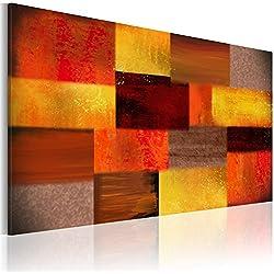B&D XXL murando - Leinwandbilder Abstrakt 150x90 cm - Bild für die Selbstmontage - Wandbilder XXL - Kunstdruck – rot orange gelb a-A-0016-b-a