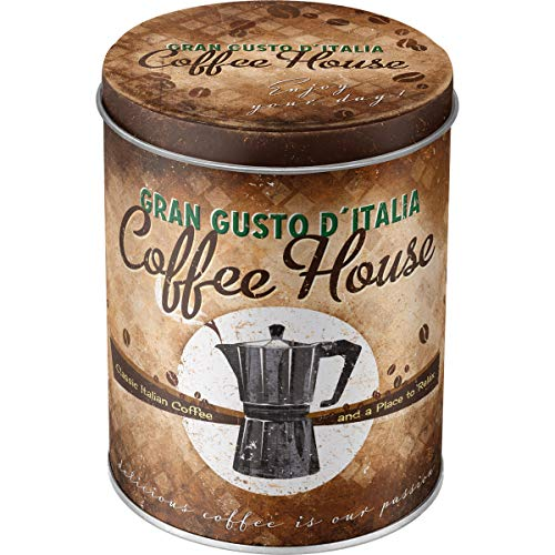 Nostalgic-Art 30517 Coffee und Chocolate House, Vorratsdose Rund