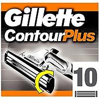 Gillette Contour Plus Rasierklingen für Männer, 10 Stück